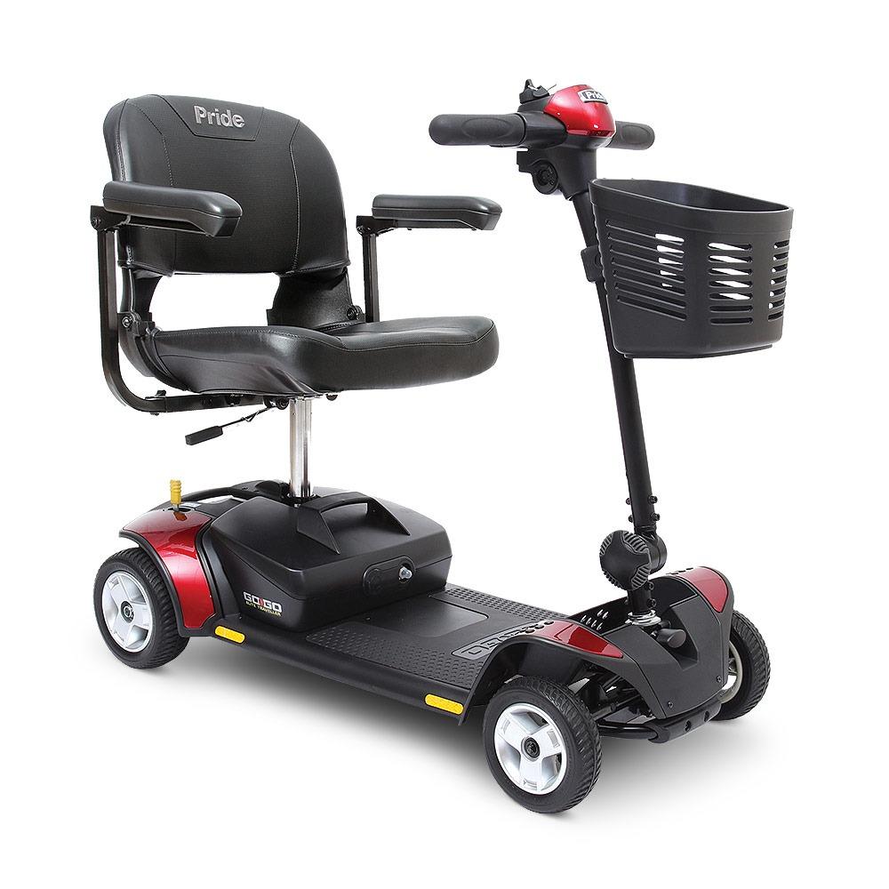 The Go Go Elite Traveler mobility scooter.