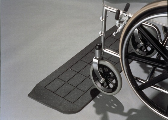 Average doorway size threshold ramp for wheelchairs and scooters