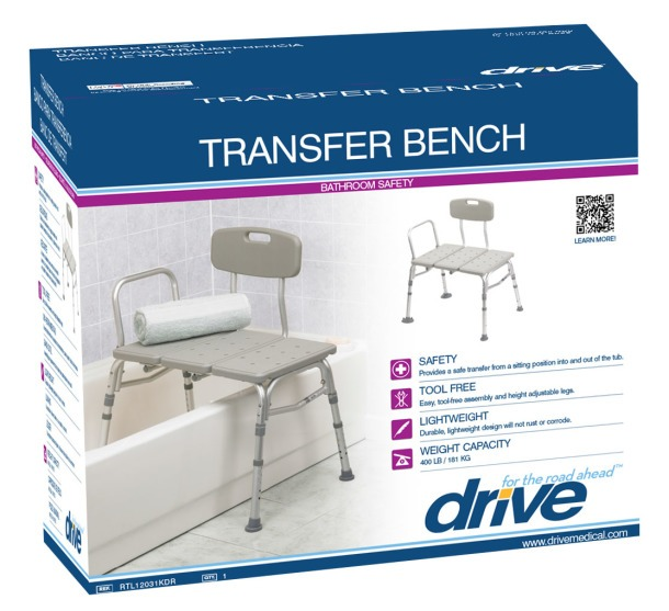 Tub transfer bench packaging